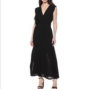 Michael Stars Ruffle Plisse Maxi Dress